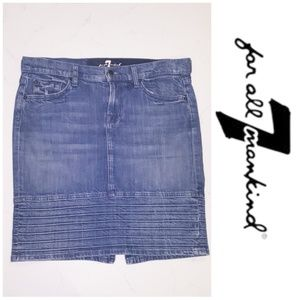 7 for all mankind denim pencil jean skirt as 29